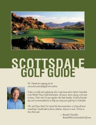 Download the Golf Guide - Scottsdale