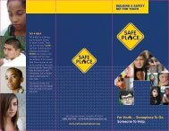 Safety Net for Youth brochure - National Safe Place