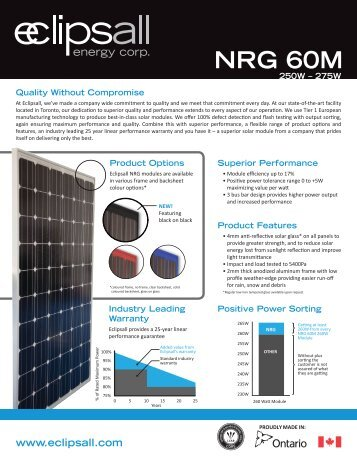 NRG 60 M Series - Eclipsall