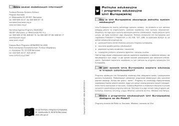 programy edukacyjne - Centrum Informacji Europejskiej
