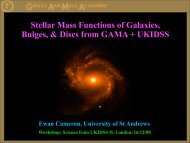 Stellar Mass Functions of Galaxies, Bulges, & Discs ... - AstroGrid wiki