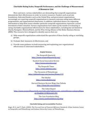 A Resource List - DMA Nonprofit Federation