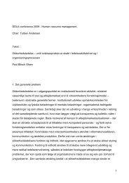 Sikkerhedsledelse - Det Danske Ledelsesakademi
