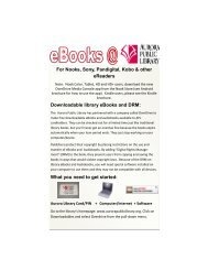 For Nooks, Sony, Pandigital, Kobo & other eReaders - Aurora Public ...