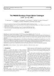 The PM2000 Bordeaux Proper Motion Catalogue - Laboratoire d ...