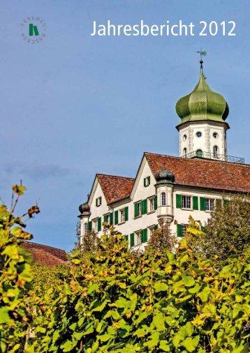 Geschäftsbericht 2012 - Schloss Herdern