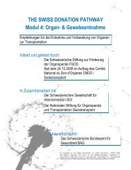 THE SWISS DONATION PATHWAY Modul 4: Organ ...