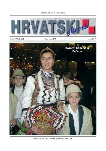 52. broj 27. prosinca 2007. - Croatica Kht.