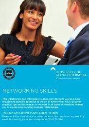 NETWORKING SKILLS - Insight – University of Gloucestershire