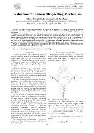 Evaluation of Biomass Briquetting Mechanism - Rēzeknes Augstskola