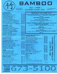 Bamboo Takeout Menu - Webb City