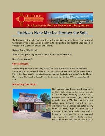 Ruidoso New Mexico Homes for Sale