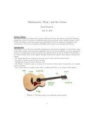 Mathematics, Music, and the Guitar