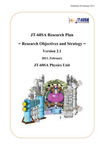 T60SA Research Plan version 2.1 - ENEA - Fusione