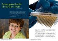 Genen geven inzicht in ontstaan artrose