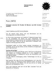 Fanbrief - Fan-Projekt Bielefeld e.V.