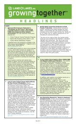 HEADLINES Newsletter - May 2010 - Land O'Lakes Inc.
