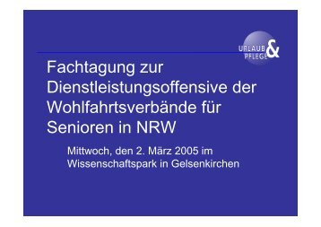 Reisen im Alter - Service für Senioren - NRW
