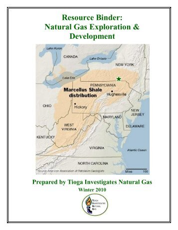 Resource Binder: Natural Gas Exploration ... - Tioga County