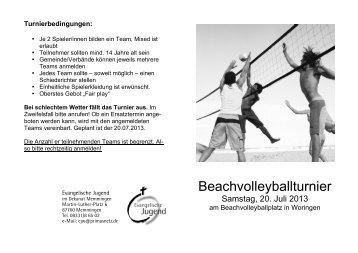Beachvolleyballturnier - Evangelische Jugend im Dekanat ...