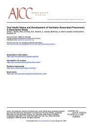 A Descriptive Study Oral Health Status and ... - ferronfred.eu