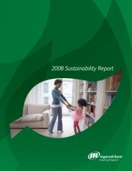 2008 Sustainability Report - Ingersoll Rand