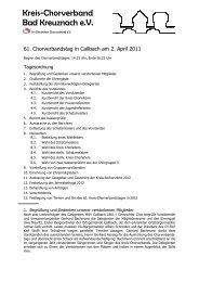 Protokoll des 61. ordentlichen Kreis-Chorverbandstags in Callbach