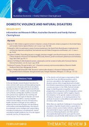 thematic review 3 - Australian Domestic and Family Violence ...
