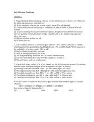 Unit 2 Review Problems Packet - Westminster Home