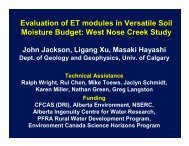 Evaluation of ET modules in Versatile Soil Moisture Budget: West ...