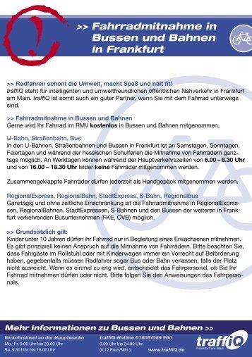 Fahrradmitnahme in Bussen und Bahnen in Frankfurt - traffiQ - das ...