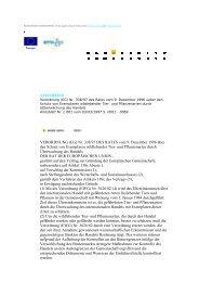 VERORDNUNG (EG) Nr. 338/97 DES RATES vom 9 ... - Tierschutz.org