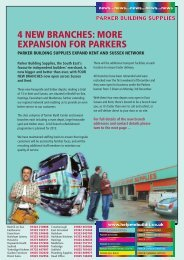 4 new branches - Parker Building Supplies