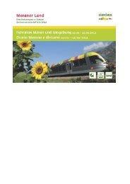 Orario bus e treno primavera 2013 (PDF - 1,31 MB) - Meraner Land