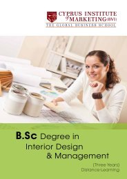 B.Sc. Interior Design & Management Leaflet - The Cyprus Institute of ...