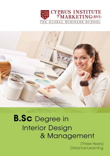 B.Sc. Interior Design & Management Leaflet - The Cyprus Institute of ...