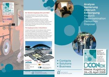 Analyse Sanierung Abbruch Entsorgung Analysis ... - DCONex