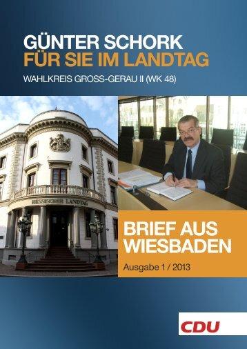 Guenter Schork / Brief aus Wiesbaden - Günter Schork