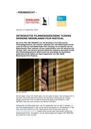 25th Anniversary Of Hfm Nederlands Film Festival