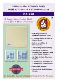 HA-268 THE SMART ALARM CONTROL PANEL - Al-alameya Group