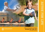ACTIVE FOR LIFE - Office for Recreation and Sport - SA.Gov.au