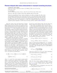 Phonon-induced shot noise enhancement in resonant tunneling ... - Ief
