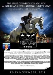 The STARS will be out at Australia's 3 Day Event in 2012! The stars ...