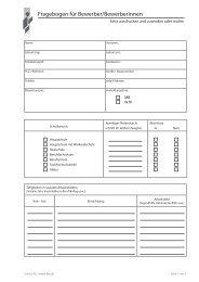 Fragebogen für Bewerber/Bewerberinnen - Institut für Soziale Berufe