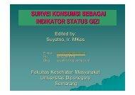 PSG Survei Konsumsi - Suyatno, Ir., MKes - Undip