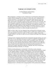 Language as an emergent system. - Serendip