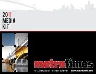 2011 media kit - Metro Times