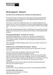 Netiquette Y! Beratungspool - Www3.datacomm.ch