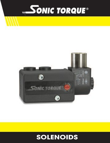 Sonic Torque Solenoids Brochure - Temp-Press Inc