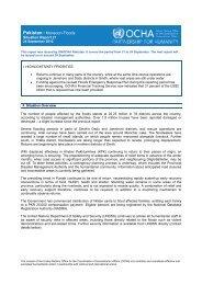 Pakistan Floods OCHA sitrep 27 (24 Sept 2010). - UN-HABITAT ...